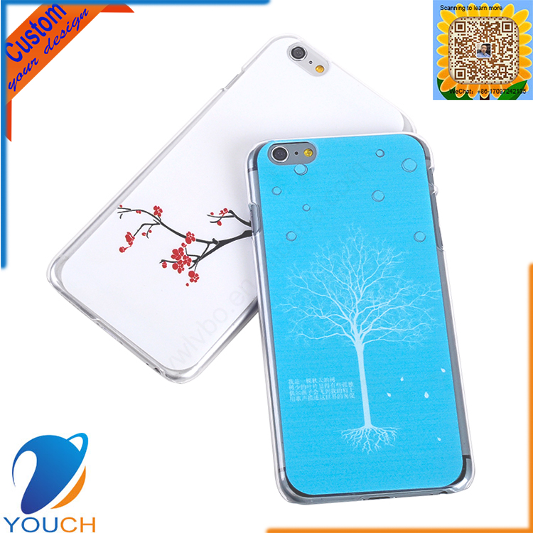 Customed oem uv printing rose flower tree smart phone cover for iPhone 6 6s 6 plus 6s plus