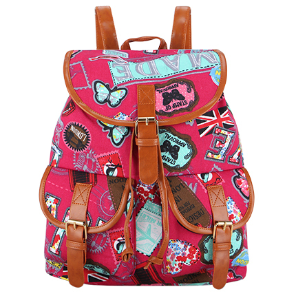 Exclusive New 2016 Handmade Bohemian Mochila Vintage Backpack Drawstring Printing Canvas Bagpack Sac a Dos Femme Rucksack Female