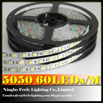 high brightness 5050 smd waterproof 24V silicon led ribbon