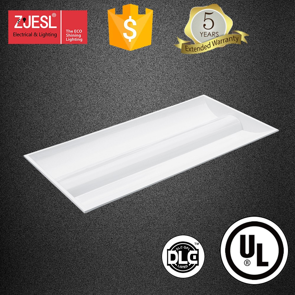 UL dlc led panel light 2X4 led troffer 72W with 5 years warranty