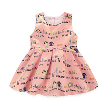 Low Price Modern Casua Daily Wear Frilly Sleeveless Children Girls Dresses