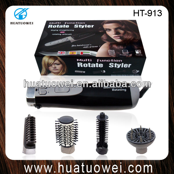 Ceramic electric round hair straightening brush (HT-913)