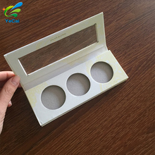 Custom fancy makeup cardboard private label eyeshadow palette, empty makeup eyeshadow palette with mirror
