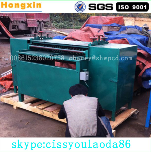 Radiator crusher and separator use electric motor woodworking band saw machine