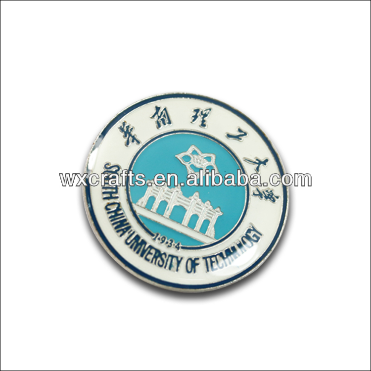 Fasion stainless Book Label pin school badge