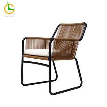 Outdoor furniture weather resistance rattan chair with cushion modern design outdoor chairs