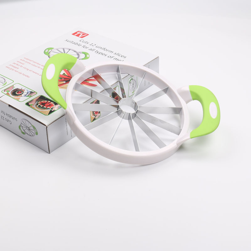 Amazon Hot Sell Vegetable And Fruit Slicer Stainless Steel Water Melon Divide Watermelon Slicer