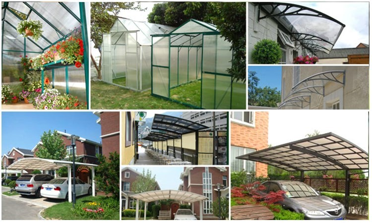Polycarbonate Commercial Porch Awnings For Outdoor High Quality Plastic Outdoor Shade Balcony Awning For Gazebo Parts