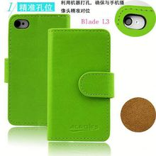 Pure book wallet style leather case protective cover for ZTE Blade L3,card solts holder phone case for ZTE Blade L3