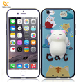 Cute decompression cartoon silicone+TPU phone case for apple iPhone 6
