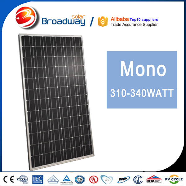 High Efficiency PERC Cells 280W 285W 290W Solar Panel Black Series Solar PV Module