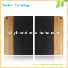 bank promotion gift bamboo leather case for ipad air
