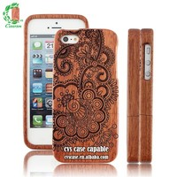 Hot Selling Wood Phone Case Fashion Design Laser Engraving Newest Product Cover Case for iphone 5