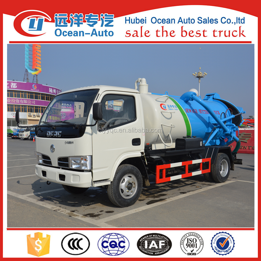 China DFAC 4 cbm Used Sewage Suction Truck For Sale