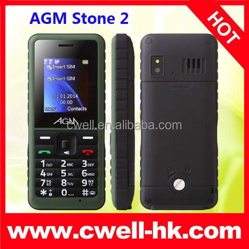 AGM STONE 2 IP67 Water Dust Shock Resistant Rugged Four Band 1.77 Inch TFT Support Bluetooth Mobile Cell Phone
