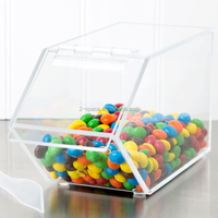 Custom Candy Box for Reatil Store 4 1/2'' x 1''1 x 5 1/2'' Stackable Acrylic Topping Bin