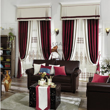 Custom made New design decorative motorize red ready made velvet used stage curtains for sale