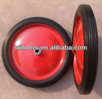 350mm solid rubber coated Wheel 14 inch