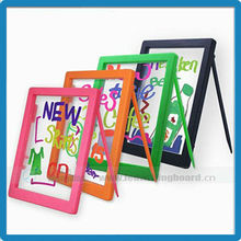 Hot selling China Christmas gifts ABS plastic frame free marker pen illuminated kids message board drawing board