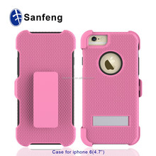china manufacture for apple iphone 6 4.7180 degree rotating belt clip case