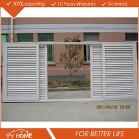 Australian standards AS2047 AS2208 AS1288 double glass aluminium timber louvred sliding door