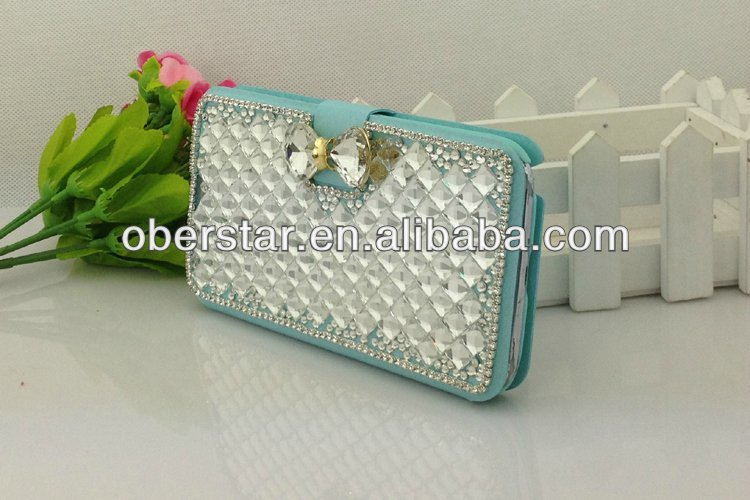 For Samsung Galaxy note2 N7100 Real Diamond Phone leather Case Cover