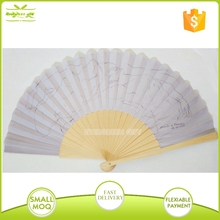 varnish wooden rib folding fan with personal drawing