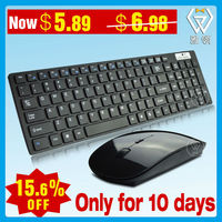 Hot Selling VWT-02 black/white 2.4g wireless black keyboard and mouse combo