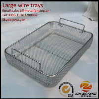 Medical grade operation instruments disinfecting trays clinic tools transporting trays stainless steel large wire trays