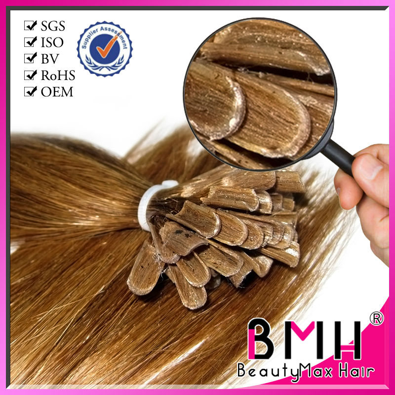 Wholesale nail customized tip brazilian keratin hair