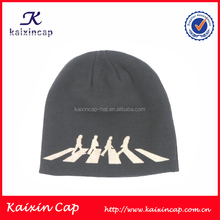men knit beanie cap/cap knitting machine beanie