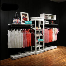 Custom Design Retail shop Slat wall White metal display rack with Sample Available