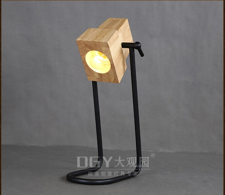 Novelty Lamp Bases : Novelty Iron Base Small Portable Bed Lamp Wooden Table Lights For Home Office And Hotel ...