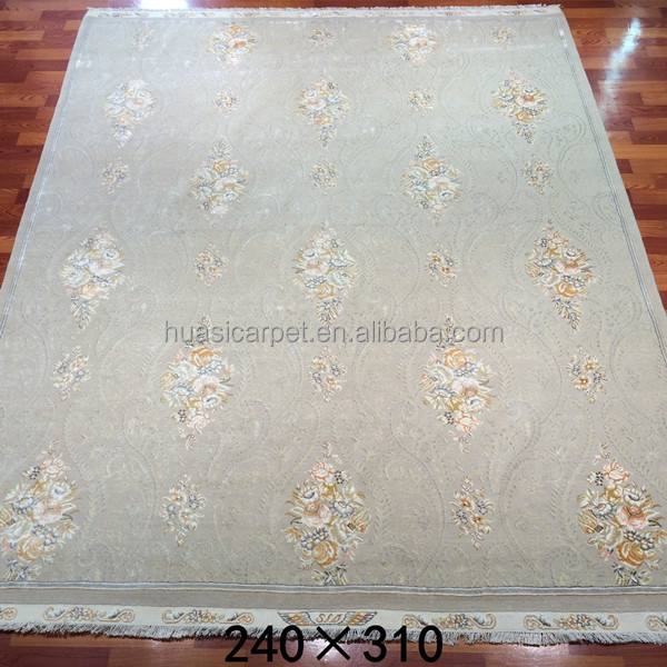 8x10ft hand knotted white carpet berber wool persian wool and silk rugs