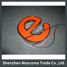Illuminated Stainless steel letter,stainless steel 3D letter,Brush decorative metal letters