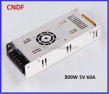 Chinese supplier CNDF switch mode power supply 5v 300W 60A for led display with over voltage protections