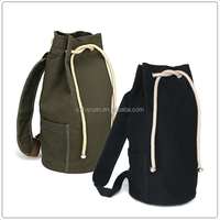 drawstring closure cute canvas vintage backpack
