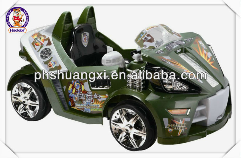 green kids battery operated toy car