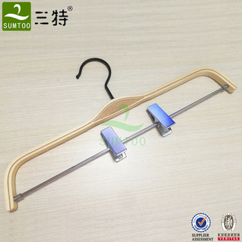 Clothes Shop Pants Laminated Hanger with Clips