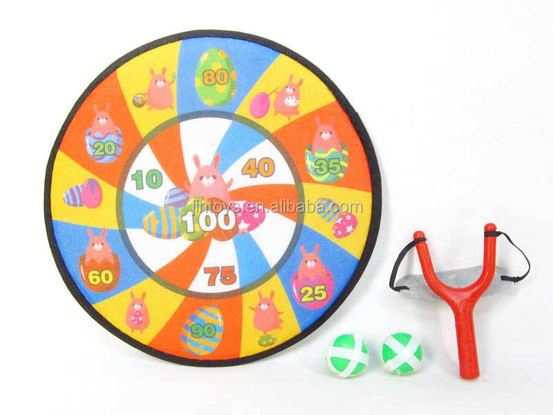 Kids Toys Animal Cloth Dart Board Game with Slingshot,Target Games for wholesale, Sports Dart Marker Toys for children, EB027108