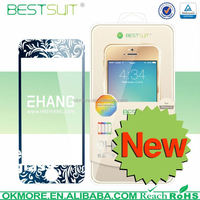 Made in china 0.15mm 9H waterproof super guard lcd colorful tempered glass screen protector