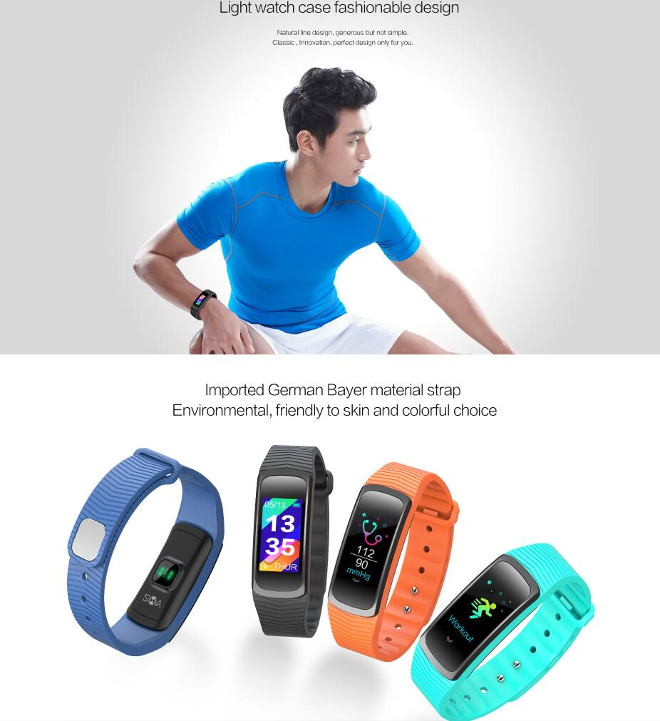2019 latest design Bluetooth Smart Bracelet With Blood Pressure, color display touch screen fitness tracker, Activity tracker