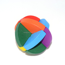 Adults Wooden Interlocking 3D Round Brain Teasers Puzzle