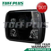 "New Products! DOT Approval 5""*7"" square Led head Light for Jeep wrangler,Fiero,Suzuki motorcycle with low high beam led headlig"