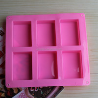 6 cavities handmade bar shape silicone soap molds