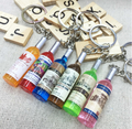 Beer Bottle shape plastic keychain/3d beer bottle custom/ plastic 3d key chain maker