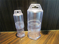 round telescopic plastic clear PVC box packing