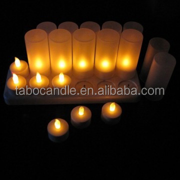 flickering light rechargeable led tea candle