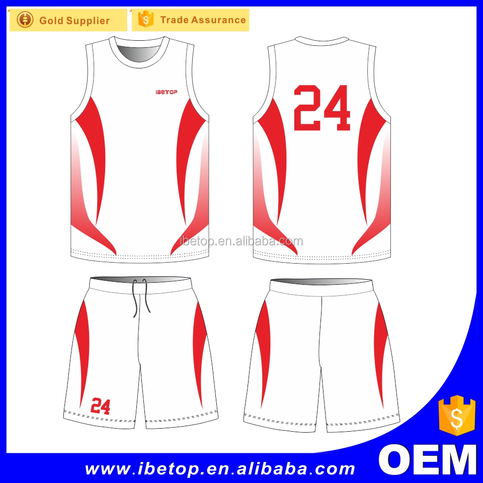 OEM factory wholesale latest basketball jersey design 2017