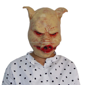 Top quality Halloween Masquerade Blood Pig Mask Animal Party Mask